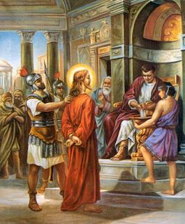 Resultat d'imatges de jesus y poncio pilato